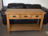 Solid oak,3 drawers.Good condition