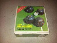 henselite mahogany lawn bowls medium weight