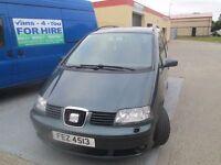 2004 seat vw 7 seater 1.9 diesel mot to nov £850 no offers