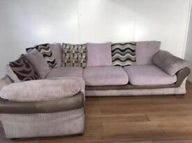 Beige DFS corner sofa with free delivery within London