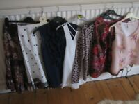 Bundle of ladies clothes size 8 from Next, Gap, Topshop, Boohoo,D Perks, Per Una, Minuet. 7 items.