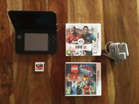 (Used) Blue Nintendo 3DS XL + 3 Games