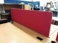 Cushioned Office Desk Partitioners. Few Available. Priced Each