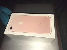 Sealed Iphone 7 128GB Rose Gold
