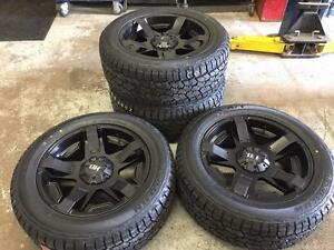 "20"" FAST Battalian Wheels 6x139.7 and All Terrain Tires 275/55R20 (GMC, CHEVROLET)"