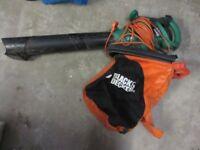 Black & Decker Leaf Hoover - suck & blow with bag - excellent condition