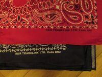 Fancy Dress: Cowboy Bandana (bandanna) Scarf, Hankie Paisley Print Neckerchief, Wild West, Western.