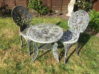 Vintage Style garden table and chair set . Delivery Possible
