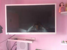 """White 24"""" TV"""