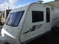 Elddis Super Sirocco 2008, T/axle, fixed bed, end washroom