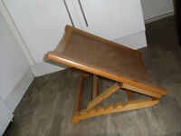 antique adjustable victorian wooden back rest