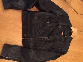 Top shop leather jacket size 10