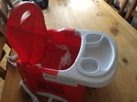 Mothercare Creative Booster with Tray- Red