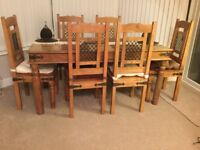 """Contemporary """"World Furniture"""" Dining & Living Room Furniture Set"""