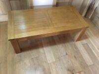 oak coffee table 120cms x 60cms BELFAST NEWCASTLE can meet deliver livingroom kitxhen hall