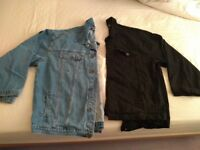 Brand New Denim Jacket,s 5XL the two 40£ one Black one Stonewashed reduced price for quick sale