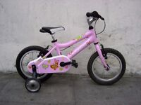 Kids Bike By Ridgeback, Pink, 14 inch Wheels, Great for Girls 4 + Years,JUST SERVICED / CHEAP PRICE!