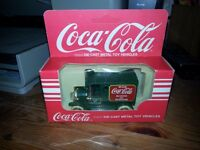 Die-cast Coca Cola Green Van model
