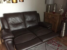 3 & 2 seater leather manual reclining sofas