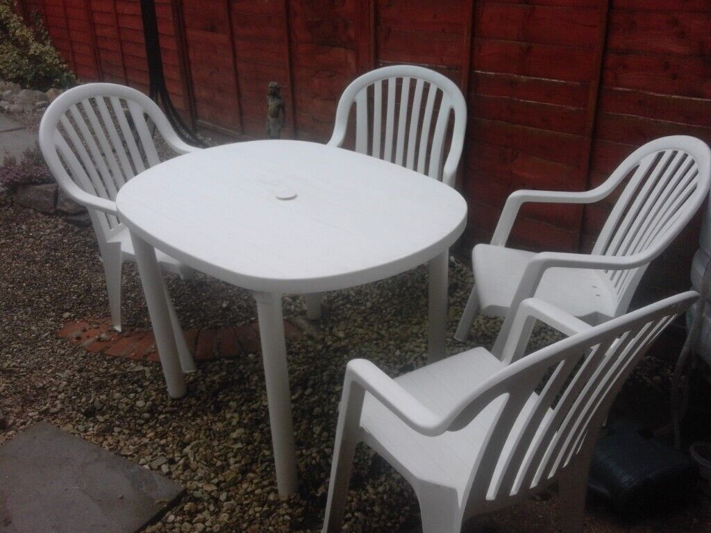 Patio furniture small white patio table outdoor furniture chairs folding patio set £30 in ipswich suffolk gumtree