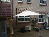 Garden Parasol - Wall Mounted hardly used