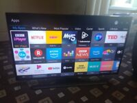 SAMSUNG 40 LED TV SMART/UHD 4K/WIFI/FREEVIEW HD/QUAD CORE/MEDIA PLAYER/ AS NEW NO OFFERS