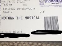 2 x Motown the Musical Theatre Tickets