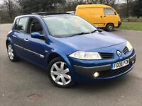 RENAULT MEGANE DYNAMIQUE TOP SPEC*GLASS ROOF FULL LEATHER SEATS 67000MILES