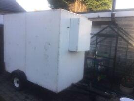 Box trailer 8' x 4' x6' high. Aluminium insulated body, trades job trailer, motorbike etc