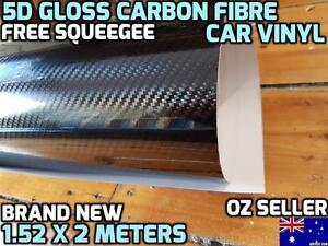 BRAND NEW 5D GLOSS Carbon Fibre Car Vinyl Wrap Sticker Roll 1.52m X 2m, OZseller