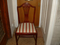 Reproduction dining table with four chairs