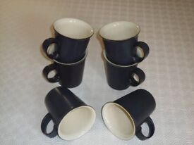 6 x Denby mugs