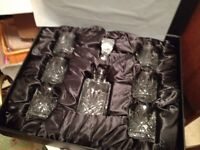 ARGYLE CRYSTAL WHISKY DECANTER SET IN BOX