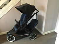 Immaculate Phil & Teds Double Buggy