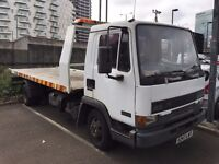 LEYLAND daf 7.5 RECOVERY TRUCK FLAT BED, 19 FEET SLIDE WITH LEZ COMPLIMENTS