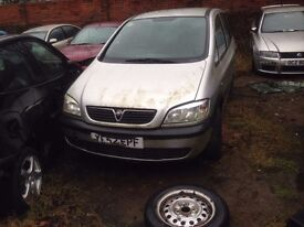 Vauxhall Zafira 2002 Petrol Complete Rear D/side Light Only Breaking Car