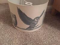 Beige owl lamp shade - as new