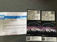 COLDPLAY STANDING TKTS (Wed) for £85 each! Quick sale. Collect from Wembley! Proof of purchase inc!