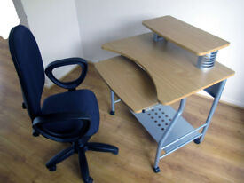 Sturdy Computer Desk and Chair