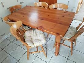 Table and chairs solid oak cost 1299 new