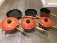 Le Creuset Classic Orange Cast Iron Set