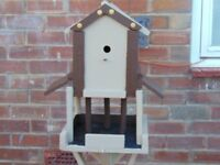 handmade bird feeder come birdhouse,all proceeds to charity