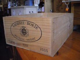 SOLID WOOD WINE BOX