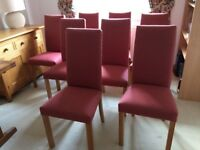 Marks and Spencer Lichfield Oak Dining Chairs - Modern Design fabric upholstered