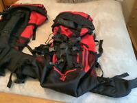2 large 60 litre rucksacks