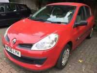 Renault Clio Expression 1149cc Petrol 5 speed manual 5 door hatchback 06 Plate 14/03/2006 Red