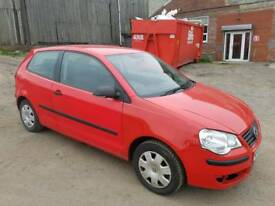 2008 VOLKSWAGEN POLO 1.2 E 3 DOOR HATCHBACK RED 12 MONTHS M.O.T