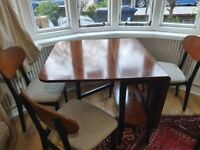 Vintage Nathan drop leaf dining table only, n very good used condition