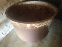 Large Garden Planter Steel Plant Pot Victorian Antique Vintage Round Planter 86cm Wide x 72cm High