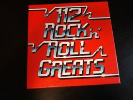 ROCK AND ROLL GREATS ALBUM BOX SET OF 8 RECORDS